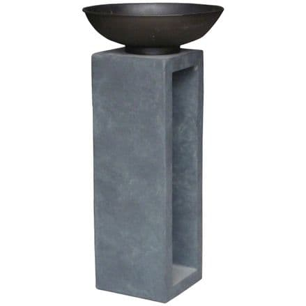 Bentley Garden Metal Fire Bowl With Hollow Console Outdoor Heating - Large