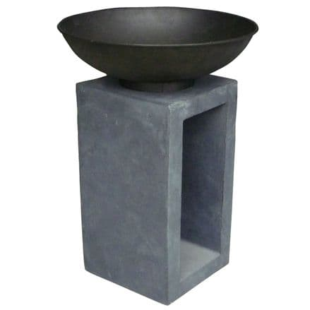 Bentley Garden Metal Fire Bowl With Hollow Console Outdoor Heating - Medium