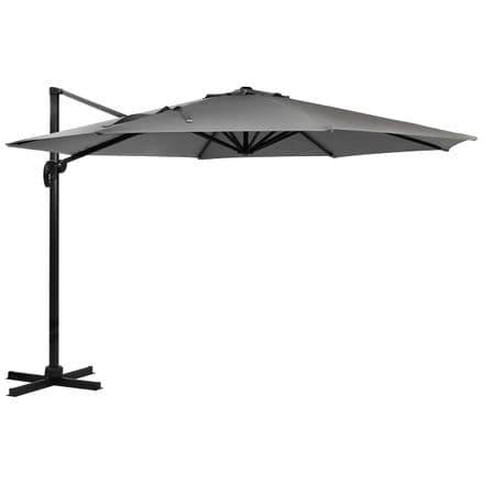 Charles Bentley 3.5M X-Large Premium Hanging Banana Umbrella Parasol Light Grey