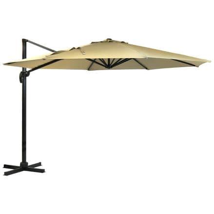Charles Bentley 3.5M XLarge Hanging Banana Umbrella Premium Patio Garden Parasol