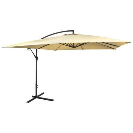 Charles Bentley 3M Hanging Garden Patio Banana Parasol Umbrella - Beige