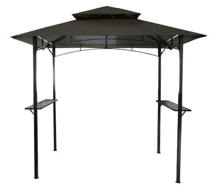 Charles Bentley 8 X 5Ft Steel Grill Gazebo Outdoor Tent Shelter - Beige and Grey 2