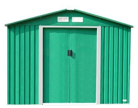 Charles Bentley 8Ft X 10Ft Metal Garden Storage Outdoor Shed Zinc Frame - Green
