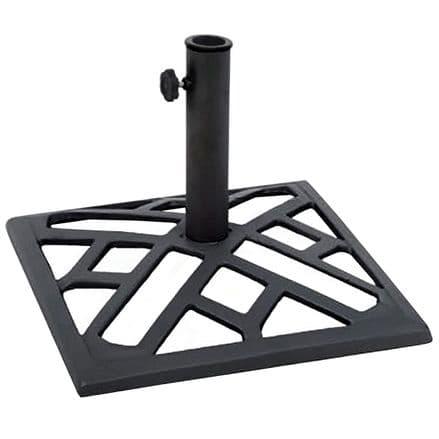 Charles Bentley 9kg Metal Square Umbrella Base - Black