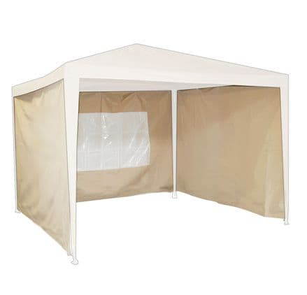 Charles Bentley Beige Gazebo Additional Replacement Exchangeable Side Wall Panel
