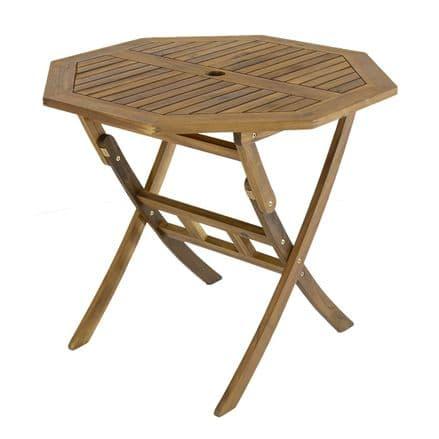 Charles Bentley FSC Acacia Hardwood Octagonal Table