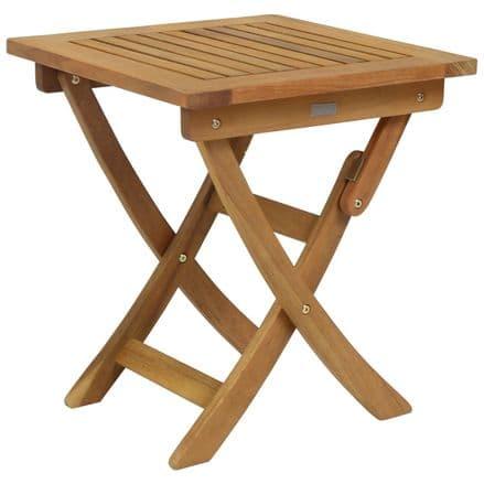 Charles Bentley FSC Eucalyptus Hardwood Small Folding Side Table