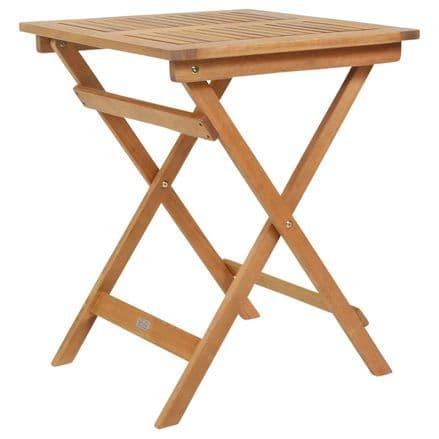 Charles Bentley FSC Eucalyptus Hardwood Square Folding Side Table