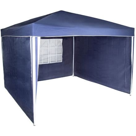 Charles Bentley Gazebo Replacement Exchangeable Side Wall Panel - Blue (3 Peice)