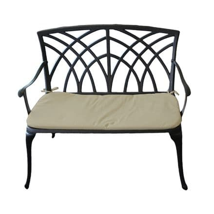 Charles Bentley Metal Cast Aluminium 2 Seater Garden Patio Bench Seat