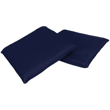 Charles Bentley Pair Of Square Chair Seat Pads Cushions Kitchen Dining Navy Blue