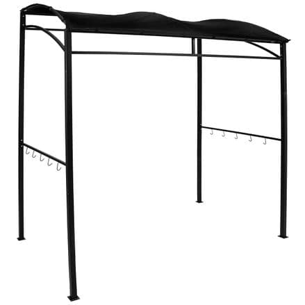 Charles Bentley Rectangle Barbecue BBQ Gazebo Shelter Canopy - Black