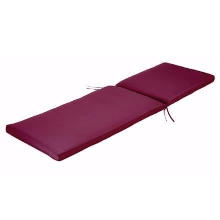 Charles Bentley Sunlounger Sunbed Cushion Garden Patio Furniture - Red
