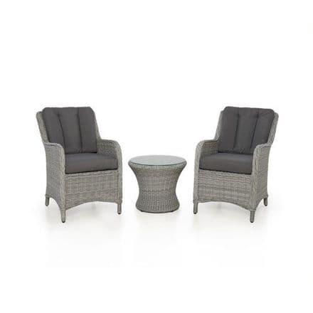 Maze Rattan Ascot Bistro Set - Grey
