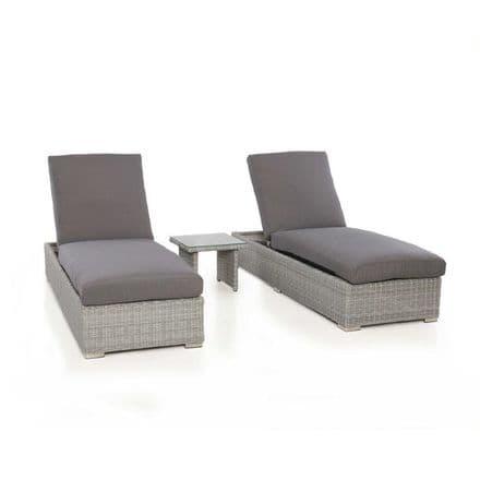 Maze Rattan Ascot Sun Lounger Set - Grey