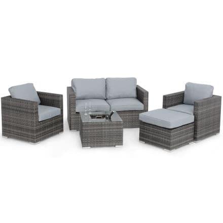 Maze Rattan Georgia 2 Seat Sofa Set with Ice Bucket / Grey