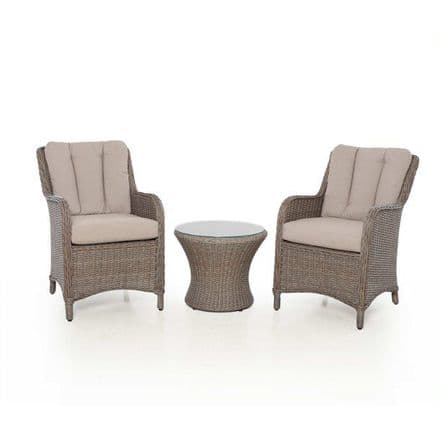 Maze Rattan Harrogate  Bistro Set - Brown