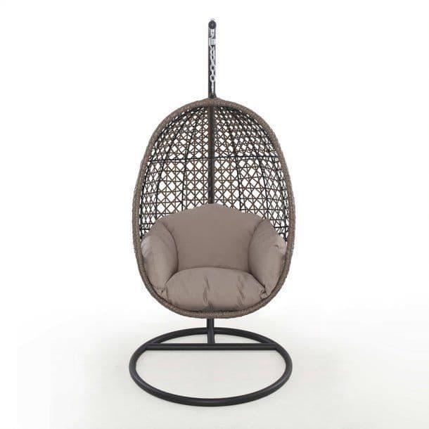 Maze Rattan Harrogate Hanging Chair - Brown