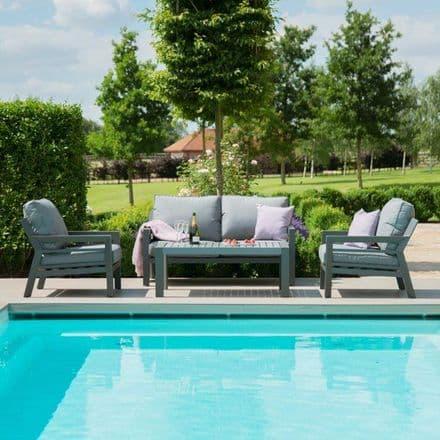 Maze Rattan New York  2 Seat Sofa  Set  - Grey