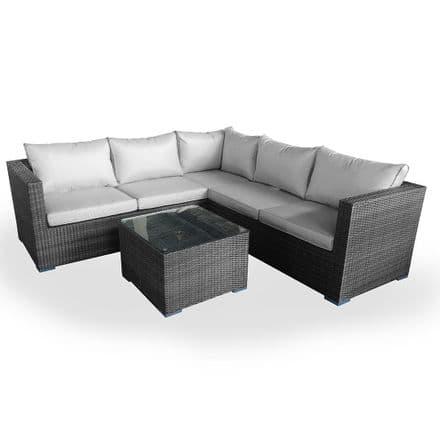 Maze Rattan Porto Corner Sofa Garden Furniture Set - Grey