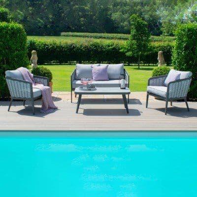 Maze Rattan Portofino 2 Seat Sofa Set - Grey