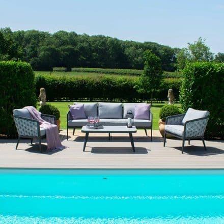 Maze Rattan Portofino 3  Seat Sofa Set - Grey
