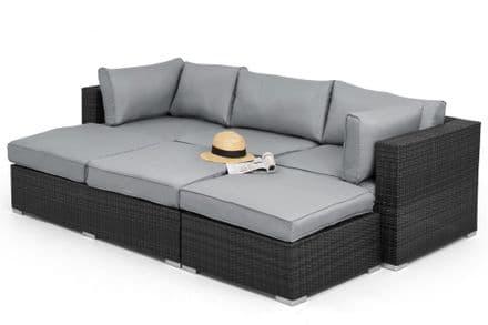 Maze Rattan - Rio Corner Sofa Set - Grey