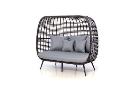 Maze Rattan Riviera Sofa - Grey