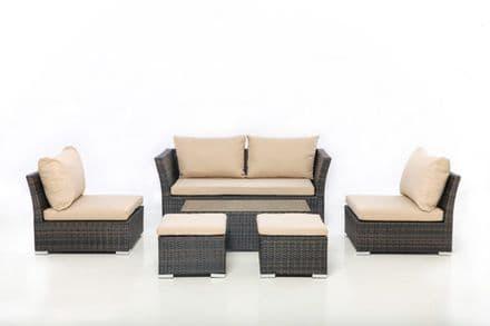 Maze Rattan Seville 2 Seater Sofa Set - Brown
