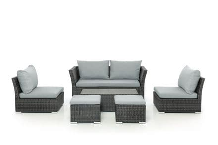 Maze Rattan Seville 2 Seater Sofa Set - Grey