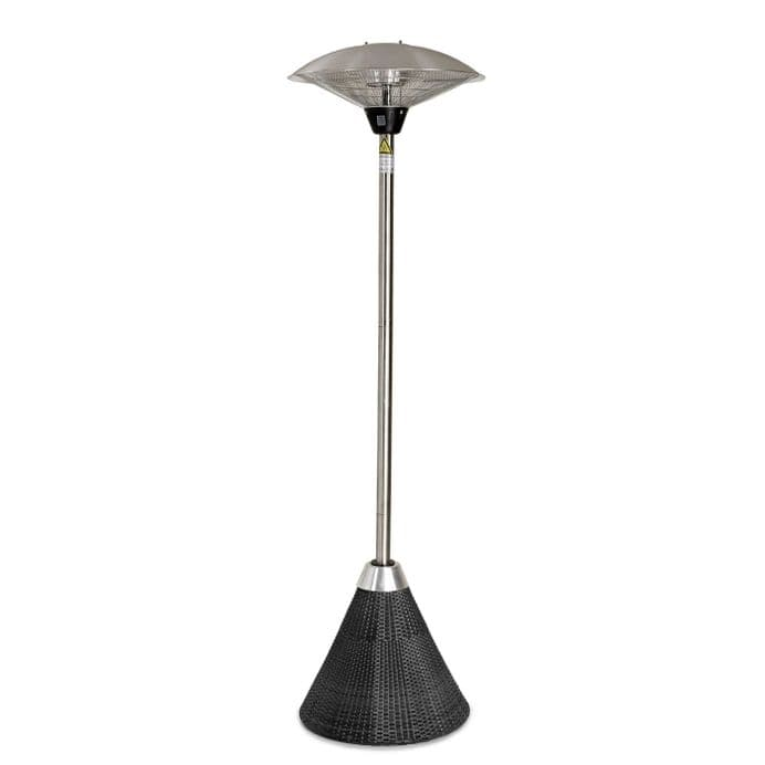 Maze Rattan Tall Patio Heater in Grey