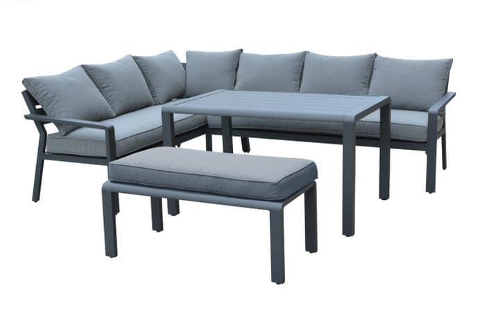 Maze Rattan - Verona Corner Sofa Group - Grey