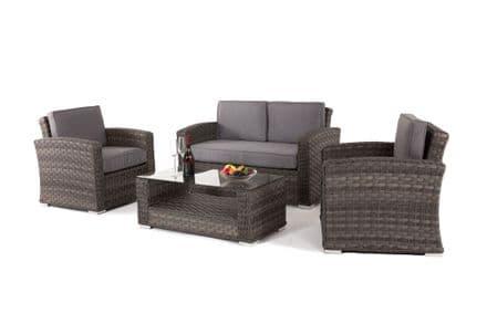 Maze Rattan Victoria 2 Seat Sofa & 2 Chairs Outdoor Garden Furniture Set