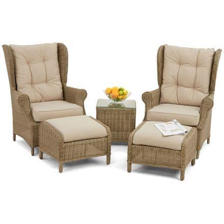 Maze Rattan Winchester High Backed Lounge Garden Furniture Set