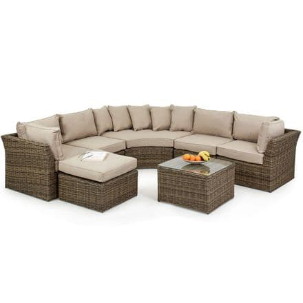 Maze Rattan Winchester Rounded Corner Group Garden Furniture Set