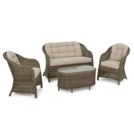 Maze Rattan Winchester Rounded High Backed Sofa Set Garden Furniture Set