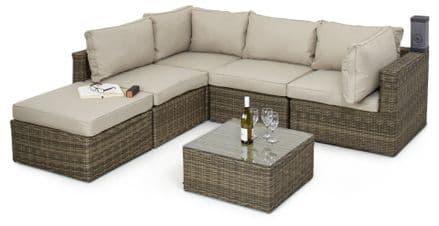 Maze Rattan - Winchester Square Corner Sofa Set