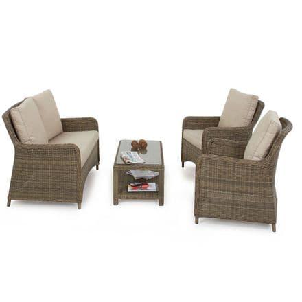 Maze Rattan Winchester Square Heritage Sofa Garden Furniture Set