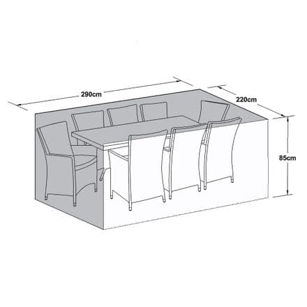 Outdoor Cover for 8 Seat Rectangular Dining Set