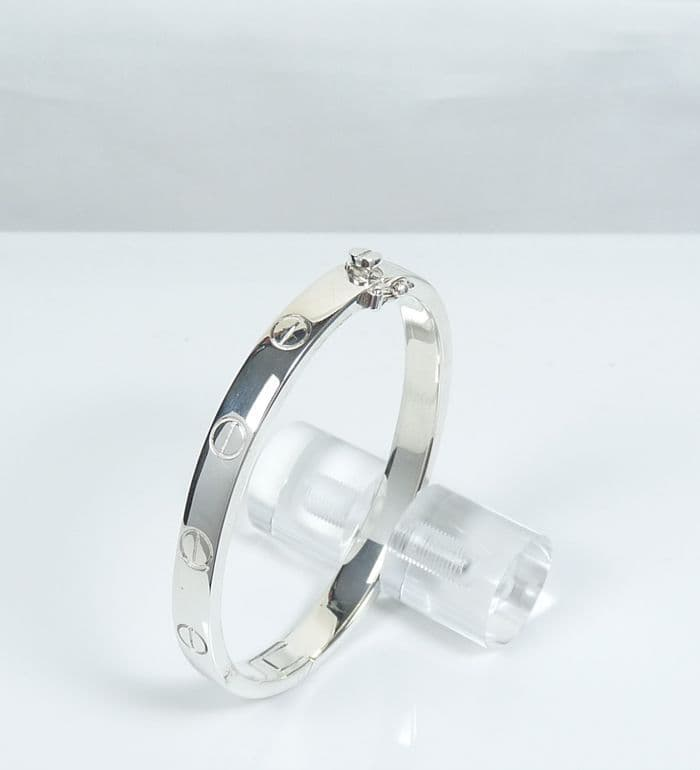 925 Solid Sterling Silver Designer Inspired Bangle That Opens