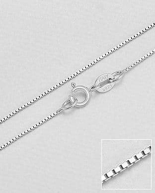 925 Sterling Silver Box Chains - Made In Italy - Available in 16,18,20 inches