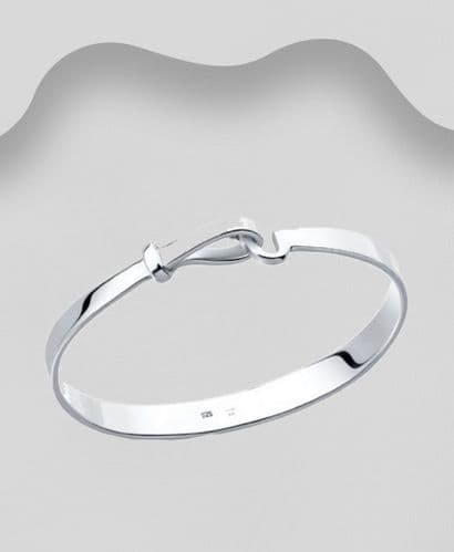 925 Sterling Silver Georg Jenson Style Bangle in Three Sizes