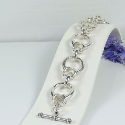 925 Sterling Silver Sold Hand Crafted  Links of London Style Bracelet