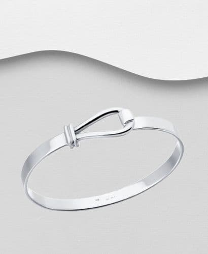 925 Sterling Silver Solid Hand Crafted Bangle That Opens in 4 Sizes