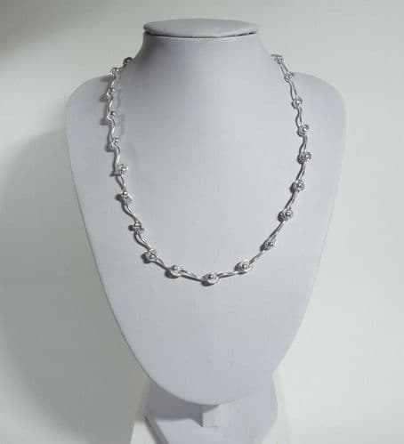 925 - Sterling Silver Solid Hand Crafted Necklace.