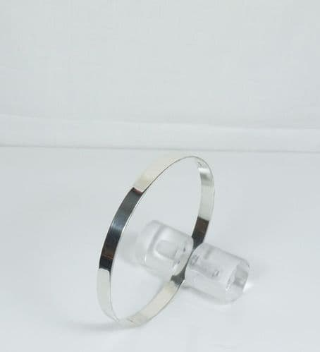 925 Sterling Silver Solid Hand Crafted Round Bangle