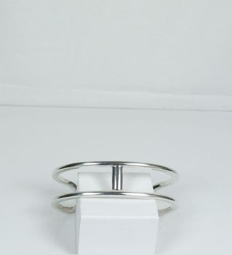 925 Sterling Silver Solid Hermes Style Cuff Bangle