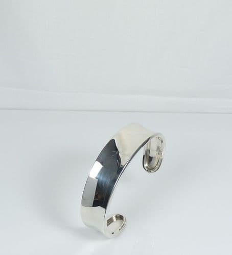925 Sterling Silver Solid Polished Cuff Bangle