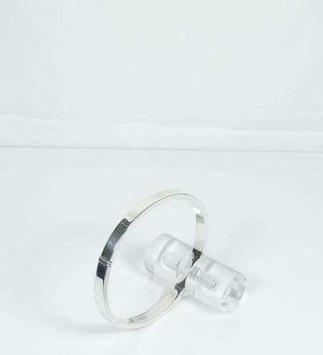 925 Sterling Silver Square Shaped Bangle That Opens.