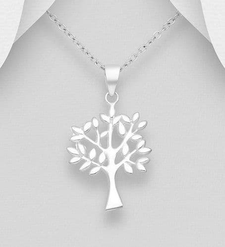 925 Sterling Silver Tree Of Life Pendant & Chain